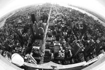 New York City - Canvas Print Artprint Fisheye NYC von temponaut