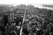 Art Print New York City from Empire State by temponaut