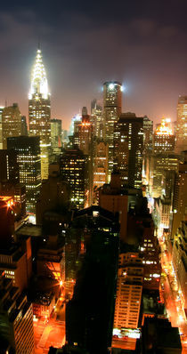 New York Art Print - SKYLINE 1of3 by temponaut