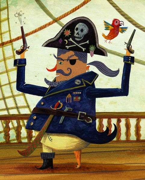 Pirate-with-parrot