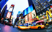 New York - Times Square - Cabs by temponaut