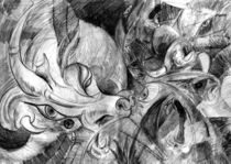Grey dragon by Paola Castillo