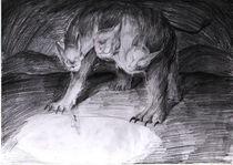 painting sketch1 - cerberus von Paola Castillo