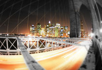 New York - Brooklyn Bridge Art Print by temponaut