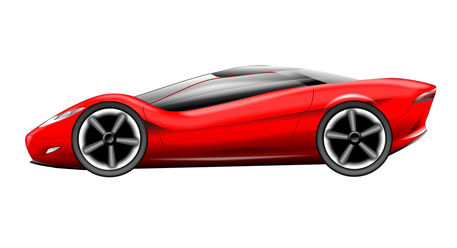Red-sports-car-illustration