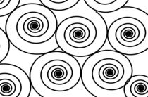 Modern Swirls in Black & White by oopsy