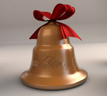 Xmass golden bell von Nikola Novak