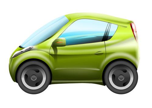 Cute-green-city-car