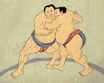 japanese sumo wrestlers  von patrimonio