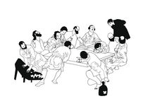 'the Last Supper' by Alessandro Geri Rustighi