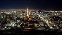 Panoramic night view of Tokyo by sanmai
