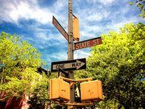 Street signs in Brooklyn by Giorgio  Davanzo