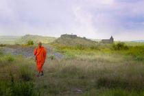 Monk on a mountain by photasia