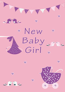 New Baby Girl by Caroline Allen
