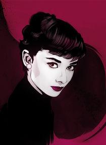 Audrey Hepburn by drasik