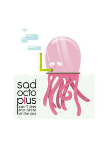 Sad OctopLus 2 by Francesca Blè