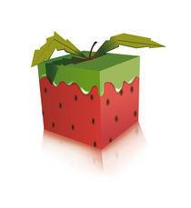 The strawberry square von Francesca Blè