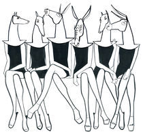 Dog Donkey Girls by Sara Chew