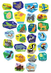 Alphabet poster for kids by Lyudmila Lavrentyeva