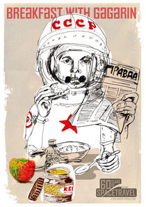 Breakfast with Gagarin by red-roger
