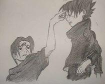 Young Sasuke and Itachi von Xenia Kondili