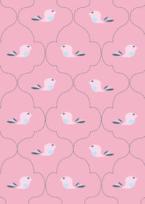 Pink Indian Bird Pattern von Caroline Allen