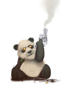 Panda with Gun von Francisco Perez