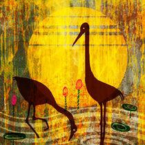 Water birds by Nirupam Borboruah