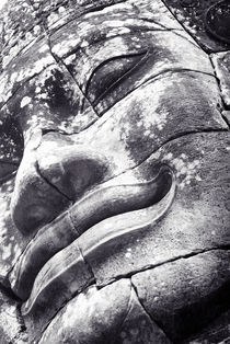 Bayon Smiling Face - Low Angle Split Tone by Russell Bevan Photography