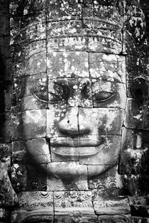 Bayon Face B&W Portrait 2 by Russell Bevan Photography
