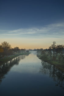 Sunset Over The River Avon von Russell Bevan Photography