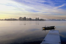 Rowing Boat Sunrise by Russell Bevan Photography