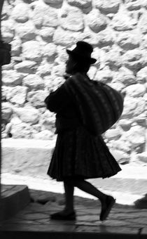 Quechua Woman Walking Past by Russell Bevan Photography