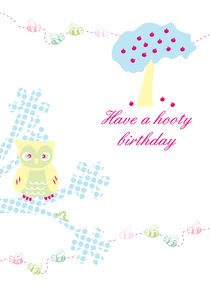 'Have a hooty birthday' by Caroline Allen