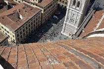Piazza San Giovanni dall'alto (Cupola di Brunelleschi, Firenze) Italia von Federico Paoli