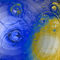 Planet-blau-gelb