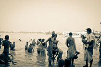 Bathing in the Ganges by Bodhisattwa Debnath