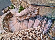 Villefranche sur Mer Stone Stairway by Ken Williams