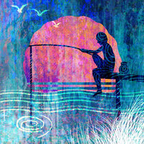 The boy with a fishing rod by Nirupam Borboruah