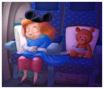 zzz's on a plane by Tanya Lyon
