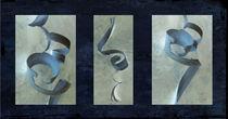 Smooth Curves Midnight Blue by Rozalia Toth