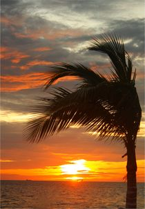 Wunderschöner Sonnenuntergang am Golf von Mexiko von Mellieha Zacharias