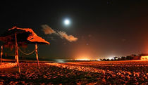 Poster Strand mit Vollmond - Fullmoon At The Beach by temponaut