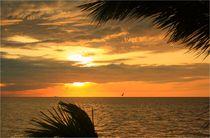 Wunderschöner Sonnenuntergang am Golf von Mexiko von mellieha
