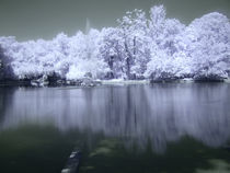 infrared lake by Mihail Leonard Bodor