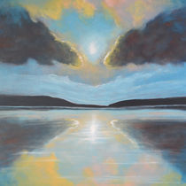 Blue symmetry by Wioleta Norowska