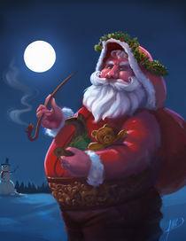 Santa Claus Christmas Greeting card von Juan Alvarez de Lara