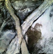 abstraktion in schwarz-weiss von Walli Gutmann