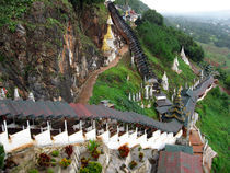 Covered stairway to the Pindaya Caves by RicardMN Photography