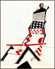 Sketch for chair El Lissitsky. von Maks Erlikh
